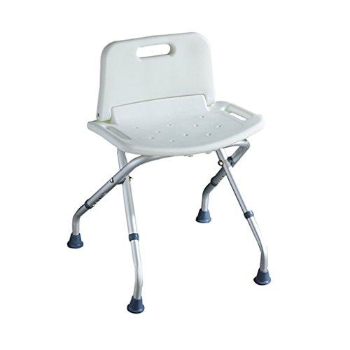LBYMYB Silla de ducha ligera y plegable de altura ajustable, adecuada para ancianos, mujeres embarazadas, personas con discapacidades taburete de baño