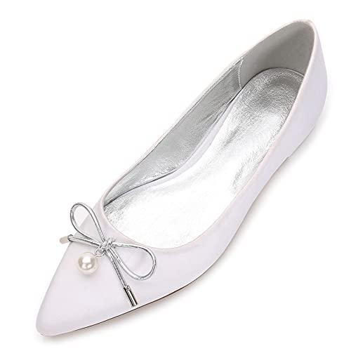 MNVOA Zapatos De Boda De Novia Zapatos De Baile De Satén con...