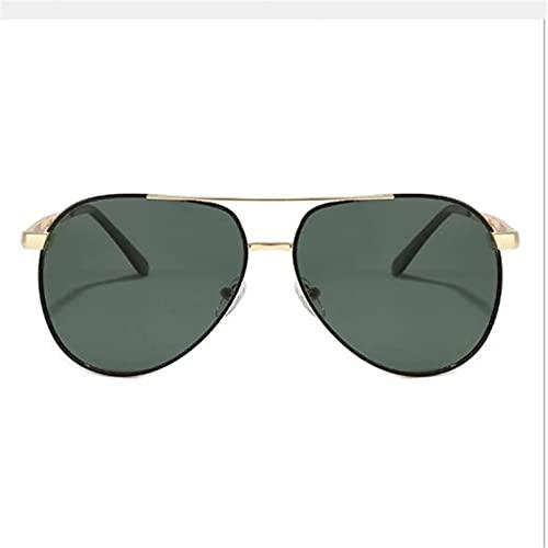 N/A Polarizador de diseñador Gafas de Sol Verde Oscuro con Montura de Metal Gafas de Sol de Moda para Hombres y Mujeres Gafas con Visera TAC Populares