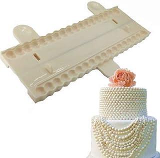 S.HAN Pearl Silicon Plastic Sugar Craft Chain Shape Mold Fondant Bead Cutter Cake Decoration Tool, 15.9x5.4x0.6 cm
