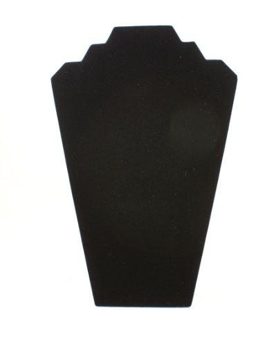 Negro 2Notch caja collar pendientes joyería expositor
