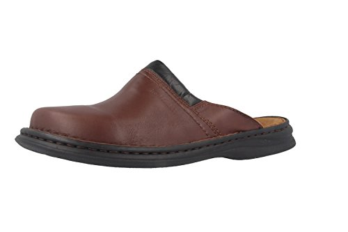 Josef Seibel Herren Pantoletten Max,Weite G (Normal),Men's,Slipper,Slides,Hauschuhe,Gartenschuhe,Plateau-Sohle,maennlich,Braun (Brandy),43 EU / 9 UK