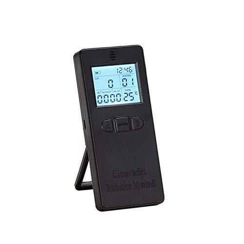 Kecheer strahlenmessgerät,Tragbarer digitaler UV-UV-Strahlungsdetektor UV-UVI-Messgerät Radiometer-Tester mit Zeit- und Temperaturanzeige