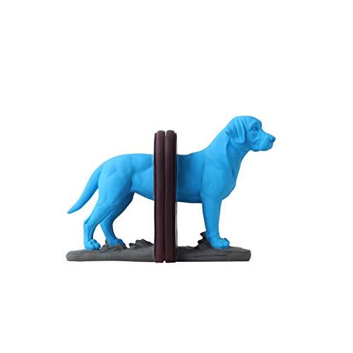 SXZHSM Buchstütze mit blauem Elefantenhund, nordischer Stil, Schreibtischdekoration, praktisches Basteln, 29 x 22,5 cm, Buchständer B
