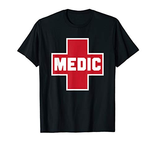 Street Medic Red First Aid Cross Protest Helper T-Shirt