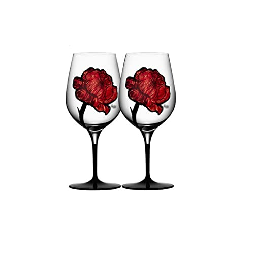 FEANG Wine Glasses Wine Glasses 680ml - Wine Glass with Stem Pack Of 2 - Great for White and Red Wine - Elegant Gift for Housewarming Party Champagne Glasses