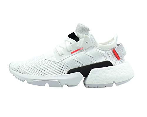 adidas Originals Kids POD-S3-1 J (Big Kid) White/Shock Red 6 Big Kid M