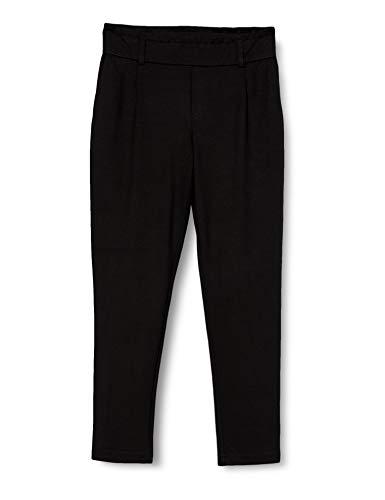 STREET ONE Damen Paperbag Loose Fit Hose, Black, W38/L28