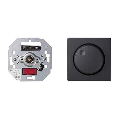 Simon 75311-39Regulador luz 75311-39 +82054-38 tapa+regulador elec. tension s-82 grafito Ref. 6558238280