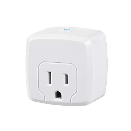 HBN Smart Plug Mini 15A, WiFi & Bluetooth Smart Outlet Works with Alexa, Google Home Assistant, Remote Control with Timer Function, No Hub Required, ETL Certified, 2.4G WiFi Only, 1-Pack