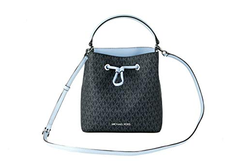 Michael Kors Suri Medium Bucket Shoulder Bag (Light Sky PVC)