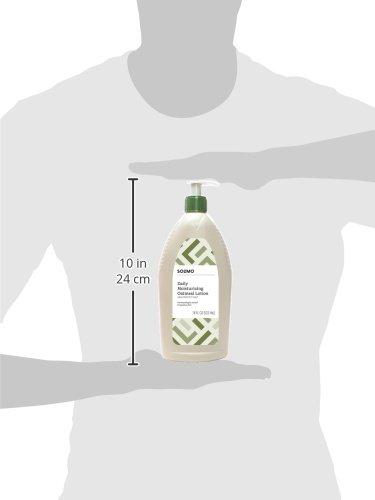 Amazon Brand - Solimo Daily Moisturizing Oatmeal Lotion, Fragrance Free, 18 Fluid Ounce