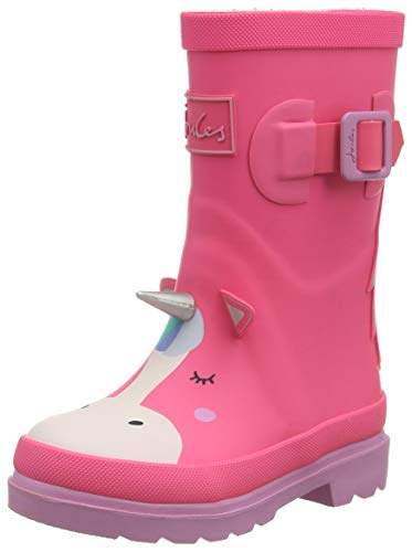 Tom Joule Mädchen Print Welly Boot, Pink Unicorn, 32 EU