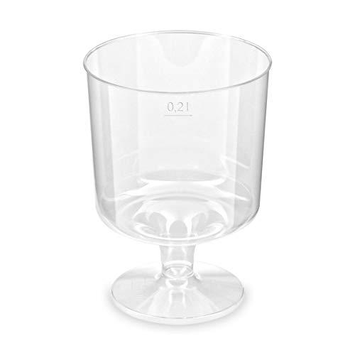 50 Desechables-vino 200 ml, transparente