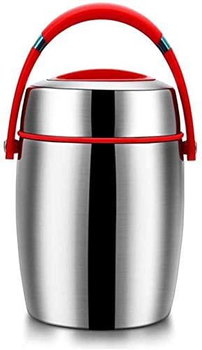 Fiambrera de conservación de calor 1200ml Fiambrera de preservación de calor Tarro de comida Frasco de acero inoxidable Sopa de vacío Termo Bento Fiambrera, utilizado para alimentos frí