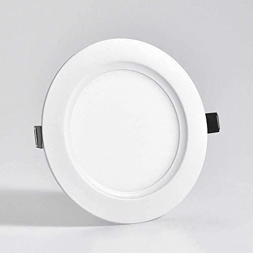 M-zen Luz de techo redonda de aluminio 3W LED Downlight Rejilla comercial antideslumbrante de ahorro de energía Foco integrado Gabinete de exhibición Tienda Habitación empotrada Pasillo de oficina Ilu