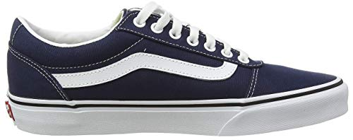 Vans Herren Ward Sneakers, Blau (Canvas) Dress Blues/White Jy3, 43 EU
