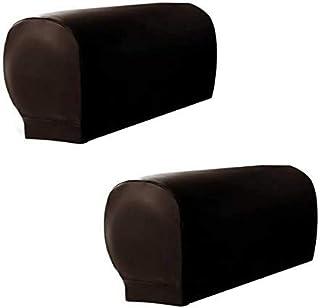 skyfiree Set of 2 Stretch Sofa Armrest Cover PU Leather Armchair Arm Covers Sofa Arm Caps Waterproof Sofa Slipcovers Arm C...
