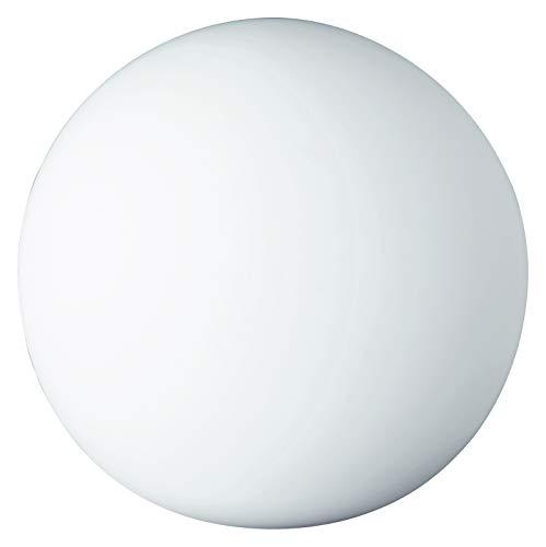 Reality R5220-07 PingPong - Lámpara de sobremesa, bombilla excluida, E27, 25 W, 230 V, A++, E, IP20, 18,5 x 20 x 20 cm, diámetro 20 cm, vidrio, blanco