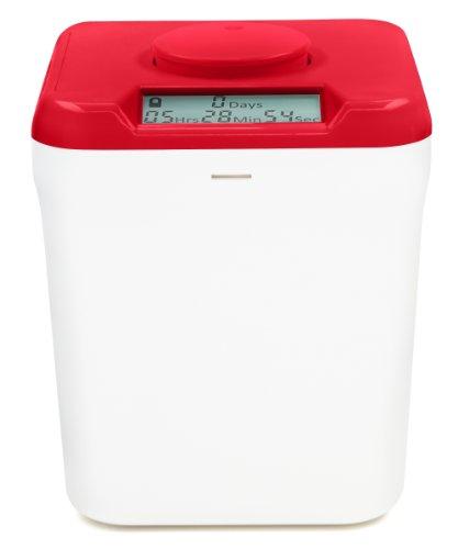 Kitchen Safe Verschlussbehälter mit Zeitschaltuhr Red Lid + White Base