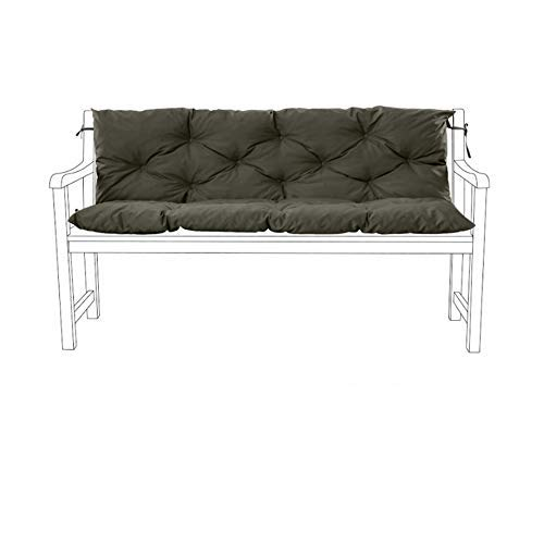 Gardenista Garden Bench Cushion 2 Seater Furniture Pad | Tufted Cushions Collection (Grey)