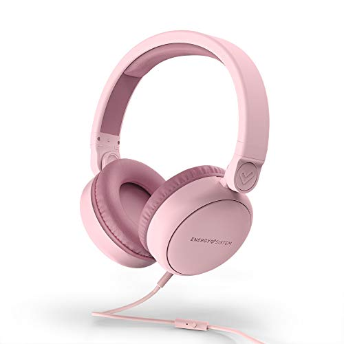 Energy sistem Headphones Style 1 Talk Pure Pink (Over-Ear, 180º Foldable, Detachable Cable Audio-in), 185 x 205 x 85 mm