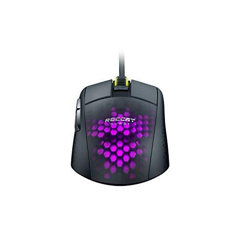 Roccat Burst Pro – Extrem leichte Optical Pro Gaming Maus (hohe Präzision, Optischer Owl-Eye Sensor (100 bis 16.000 Dpi), RGB AIMO LED Beleuchtung, 68g leicht, Designt in Deutschland), schwarz - 8