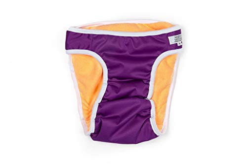 Washable Wonders Female Dog Diaper | Premium Reusable Dog Panties | Absorbent Dog Diapers for Female | Dog Diapers for Female Small Dogs (XS Purple)