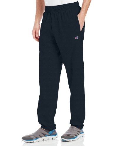 Champion Men's Closed Bottom Light Weight Jersey Sweatpant, Navy, Medium