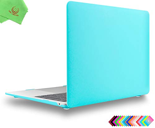 UESWILL Matte Hard Shell Case Cover for 2018 2019 Release MacBook Air 13 inch Retina Display & Touch ID & USB-C (Model A1932), Turquoise