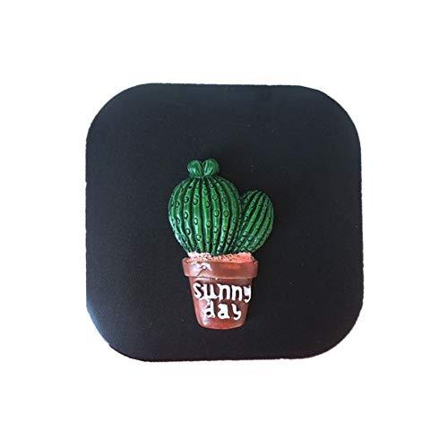 Vi.yo 1 Paar Mini Hard Kontaktlinsenbehälter Cactus Kit für Kosmetische Kontaktlinsen mit Spiegel Geeignet für Die Reise Oder die Tägliche Pflege - 6,8 * 6,8 * 2 cm Schwarz