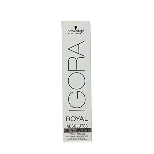 Schwarzkopf Igora Royal Absolutes Silber-Weiß permanente Haarfarbe, 60 ml, Grau-Lila