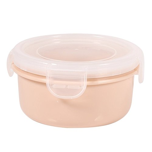 LIUCHANG Food Storage Containers Bento Boxes Bpa Free Silicone with Locking Lids for Kitchen Food Fruit Case - Oven, Microwave, Freezer Safe(Round-Pink) liuchang20