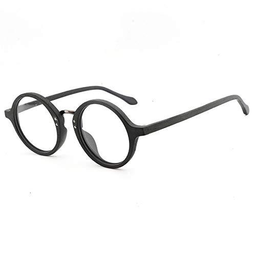 Mjd Zonnebril, rond, van hout, retro plaket, modieus, voor mannen en vrouwen, glazen, plat, handgemaakt, bril