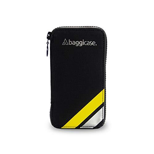 Baggicase S Amarillo (14x7,6cm). La Funda Impermeable para el móvil y Las pertenencias del Ciclista. Disponible en Tres Tallas S (14x7,6cm), M (15x7,9cm) y XL (16,3x8,5cm) y 8 Colores.