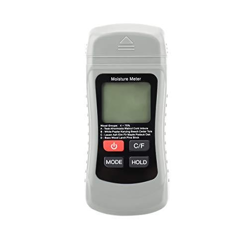 Aspiree Misuratore di umidità del legno,Tester dell'umidità del legname dell'umidità del tester dell tester dell'umidità di Digital LCD, Rivelatore di umidità dell'umidità per mobili