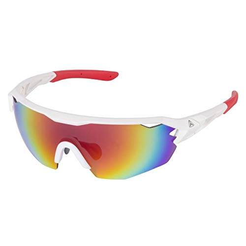 Firefly Pro 01-B1 Brillen Gafas para Hombre, Blanco, Rojo