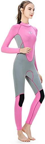 Wetsuit 3mm, Women's Neopreen Duikerspak Zipper Sun Protection UPF 50+ Scuba Wetsuit, For Het Surfen Zwemmen Duiken Snorkelen (Size : M)