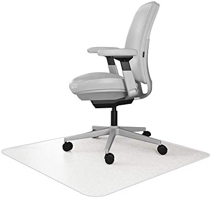 Resilia Office Desk Chair Mat for Carpet with Grippers Clear 30 Inches x 48 Inches Made in The product image