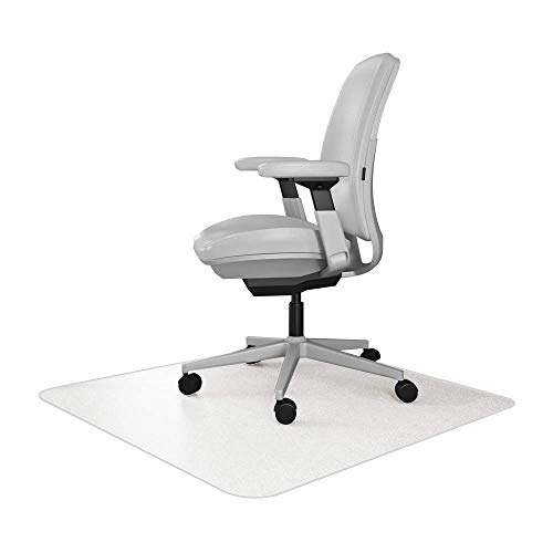 Resilia Office Desk Chair Mat – for Carpet (with Grippers) Clear, 30 Inches x 48 Inches, Made in The USA
