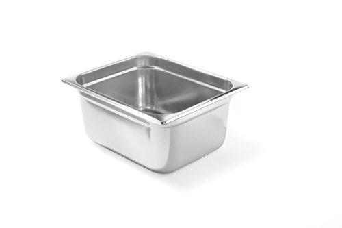 HENDI Gastronormbehälter, Temperaturbeständig von -40° bis 300°C, Heissluftöfen-Kühl- und Tiefkühlschränken-Chafing Dishes-Bain Marie, Stapelbar, 9,5L, GN 1/2, 325x265x(H)150mm, Edelstahl 18/10