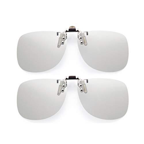 2er Pack 3D-Brille, Effekt ist herausragende 3D-Brille, waschbare Schutzbrille, für IMAX-Kino, für IMAX-Großbildtheater, für Kinder und Erwachsene (Brillenclip)