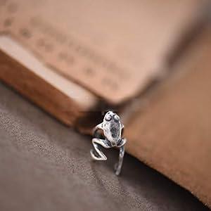 1 Pc 925 Sterling Silver Frog Cuff Ear Clip Ear Wrap Earring Women Men Punk Gothic Jewelry Gift