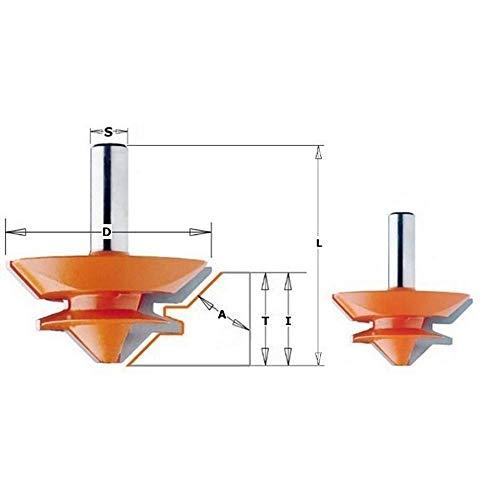 CMT Orange Tools 955.503.11–Fräser 45Grad HM S Dichtungen 12D 70x 31.7