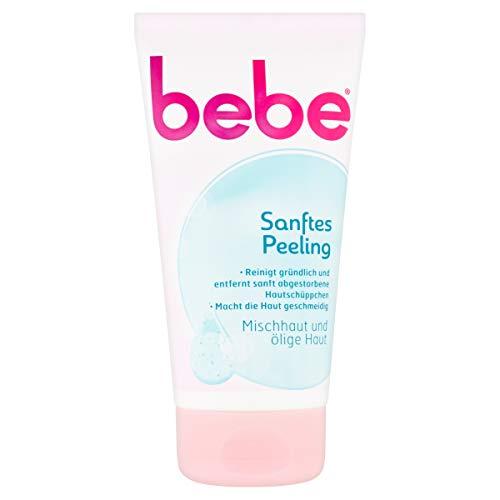 bebe Sanftes Peeling / Reinigendes Gesichtspeeling für Mischhaut und Ölige Haut 150ml