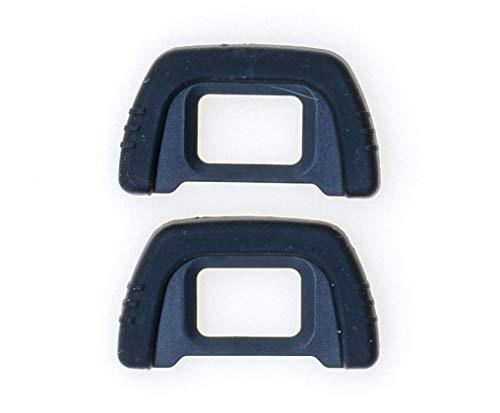 PROtastic® Eyecup de repuesto DK-21 para cámaras réflex digitales Nikon D80 D90 D200 D600 D610 D750 D7000 (2 unidades)