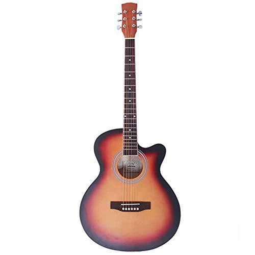 MTSBW Folk-Gitarre, 40-Zoll-Cut-Off Fichte Panel-Matte-Covered Folk-Gitarre, Palisander Griffbrett und Steg, glatt, stabil und undurchdringlich für Streicher, Sunset Gradient