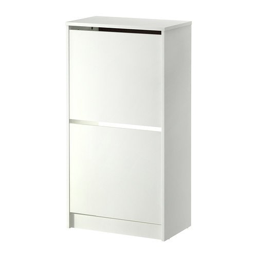 Ikea –Zapatero Bissa con 2compartimentos, color blanco, 49 x 93 cm