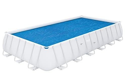 BESTWAY - Cobertor Solar para Piscina Desmontable 703x336 cm Rectangular Protege y Calienta el Agua de PVC Resistente a los Rayos UV Fácil de Instalar y Almacenar