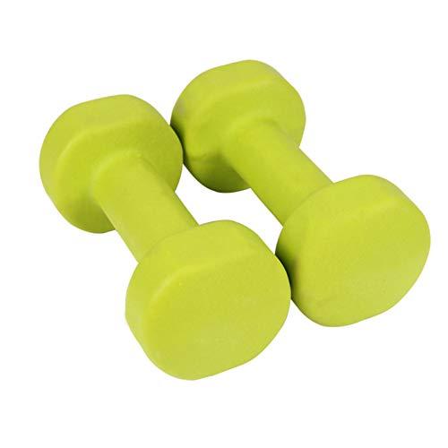 LUSTAR Kurzhanteln 2er-Set, Gewichte 0,5 Kg 1 Kg 1,5 Kg 2 Kg Grün für Fitness General Muscle,Green-(1.5 * 2)